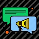 chat, conversation, speaker