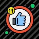 like, likes, thumb