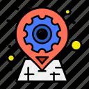 gear, geo, location, options, pin