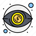 eye, money, view, visibility