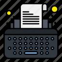 keys, type, typewriter, writer