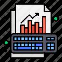 analysis, data, graph, growth, keyboard