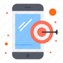 dartboard, digital, marketing, mobile icon