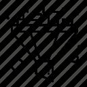filter, funnel, sort