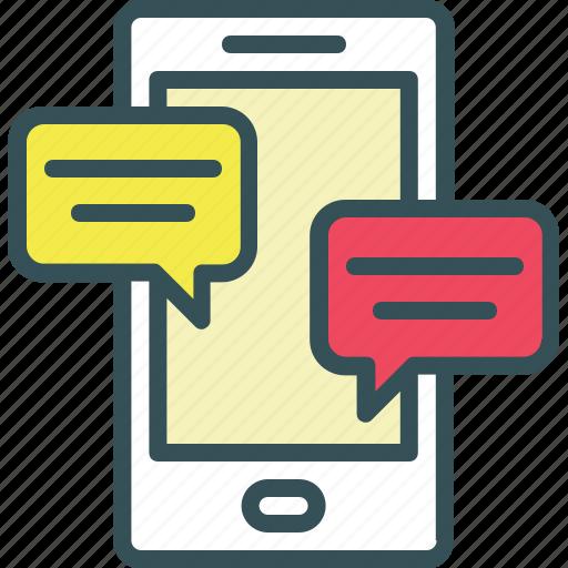 bubble chat, chat, communication, messenger, mobile icon