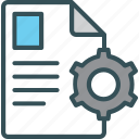 cog, data, document, paper, setting icon