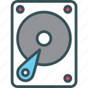 disk, drive, hard, hard drive, hdd icon