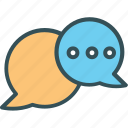 bubble, chat, chating, messageing, talk icon