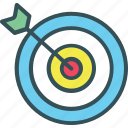 arrow, bullseye, darts, goal, target icon