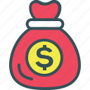 bag, coin, dollar, money, payment icon