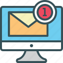 email, lcd, mail, monitor, sent mail icon