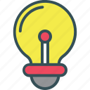 blub, creative, idea, light, light blub icon