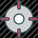 focus, goal, location, target icon