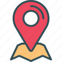 gps, location, map, sticky, tracking icon