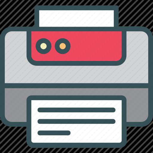 fax, output, print, printer, printing icon