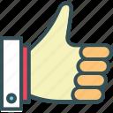 good, hand, like, thumb, thumbs up icon