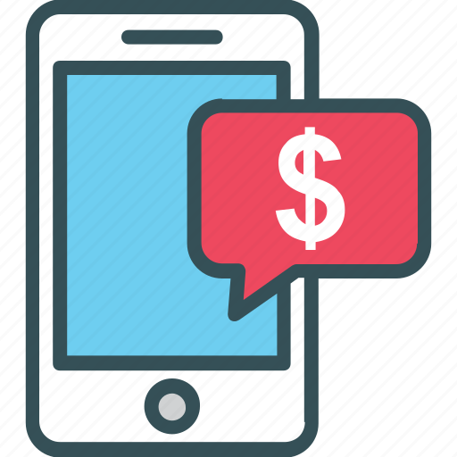 Dollar, marketing on mobile, mobile, mobile phone, money icon - Download on Iconfinder