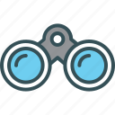 binoculars, find, findout, search, zoom icon