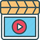 add, marketing, movie, video, youtube icon