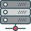 database, rake, server, storage icon