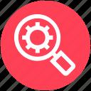 digital marketing, find, gear, magnifier, magnify, search, setup
