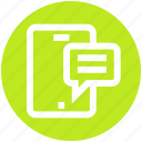 chat, comment, digital, message, mobile, phone, sms