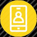 app, info, mobile, mobile account, profile, smartphone, user