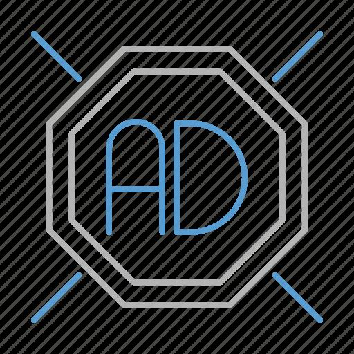 ad, blocker, digital, marketing, protection icon