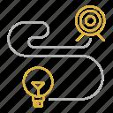 focus, goal, idea, long, planning, range, target icon