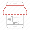 basket, engagement, online, shopping, user icon