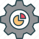 chart, cog, gear, pic, setting icon