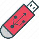 data, multimedia, share, stick, usb icon