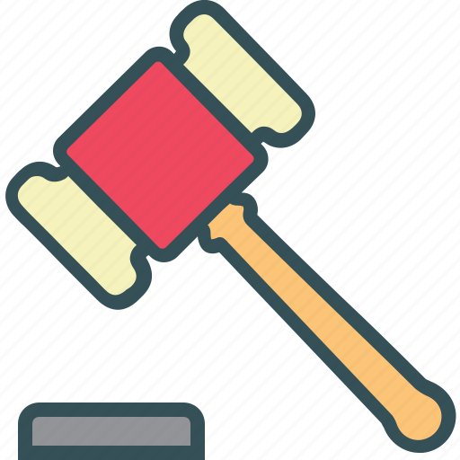 auction, hammer, justice hammer, trade icon