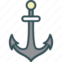 anchor, marine, nautical, port, ship icon