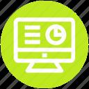 chart, digital market, display, graph, lcd icon