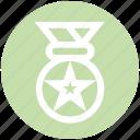 award, award ribbon, badge, ranking, star, star badge icon