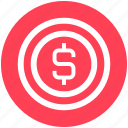 cash, coin, digital marketing, dollar, dollar coin, money