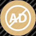ad, ban, blocker, digital ad lock, marketing, protection