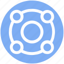 circle, connection, digital, marketing, network icon