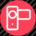 camcorder, camera, digital cam, handycam, recording, video camera icon