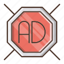 ad, blocker, digital, marketing, shield icon