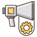 automation, digital, marketing, speaker icon
