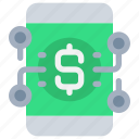 banking, mobile, money, network, payment, smartphone icon