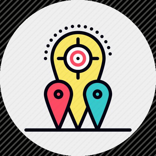 geo, location, targeting icon
