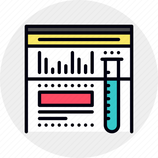 analysis, research, web, website icon