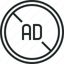 ad, adblock, advertisement, advertising, block, blocker, filter icon