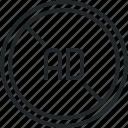 ad, adblock, advertisement, advertising, block, blocker, filter icon