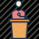 conference, lecture, presentation, public speaker, speech