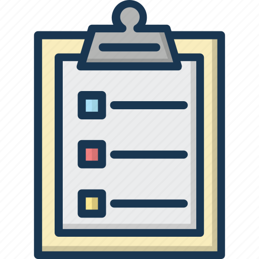 Checklist isolated vector icon that can be easily modified ...
