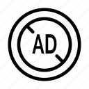 ad, blocker, digital, marketing, technology icon